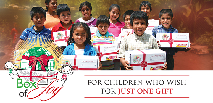 There is still time to send a Box of Joy with hope and love to a needy child this Christmas season
