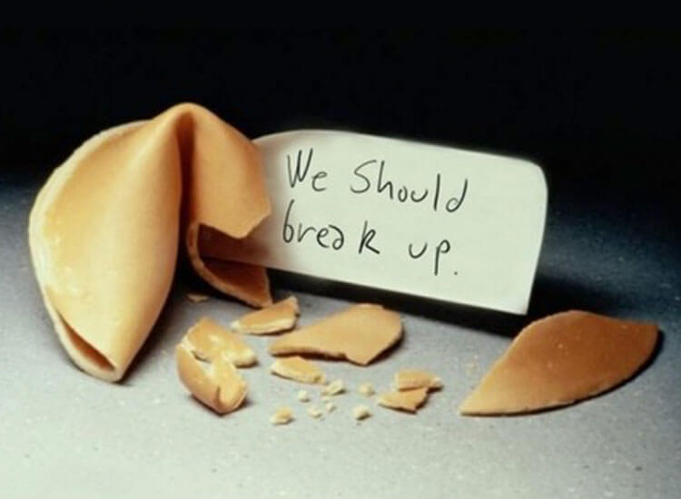 IT'S TIME TO BREAK UP.