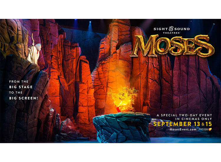 VIRGIL FILMS AND SIGHT & SOUND THEATRES® PROUDLY ANNOUNCE THE HOME ENTERTAINMENT RELEASE OF: MOSES THE LIVE STAGE PRODUCTION SEEN BY NEARLY 2 MILLION PEOPLE COMING TO DVD AND DIGITAL HD OCTOBER 16